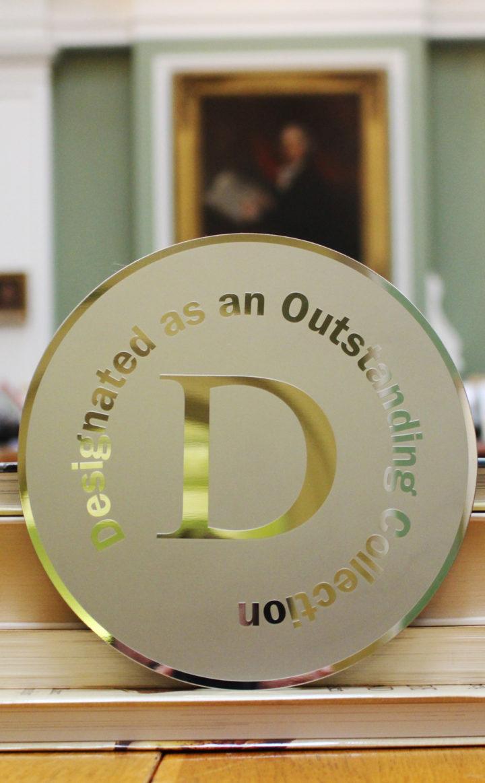ACE designated plaque in Library