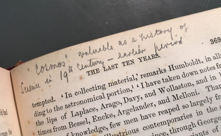ARW annotation of The Life of Alexander von Humboldt