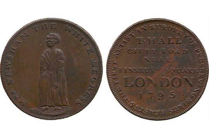 1795 coin celebrating Amelia Lewsham or Newsham