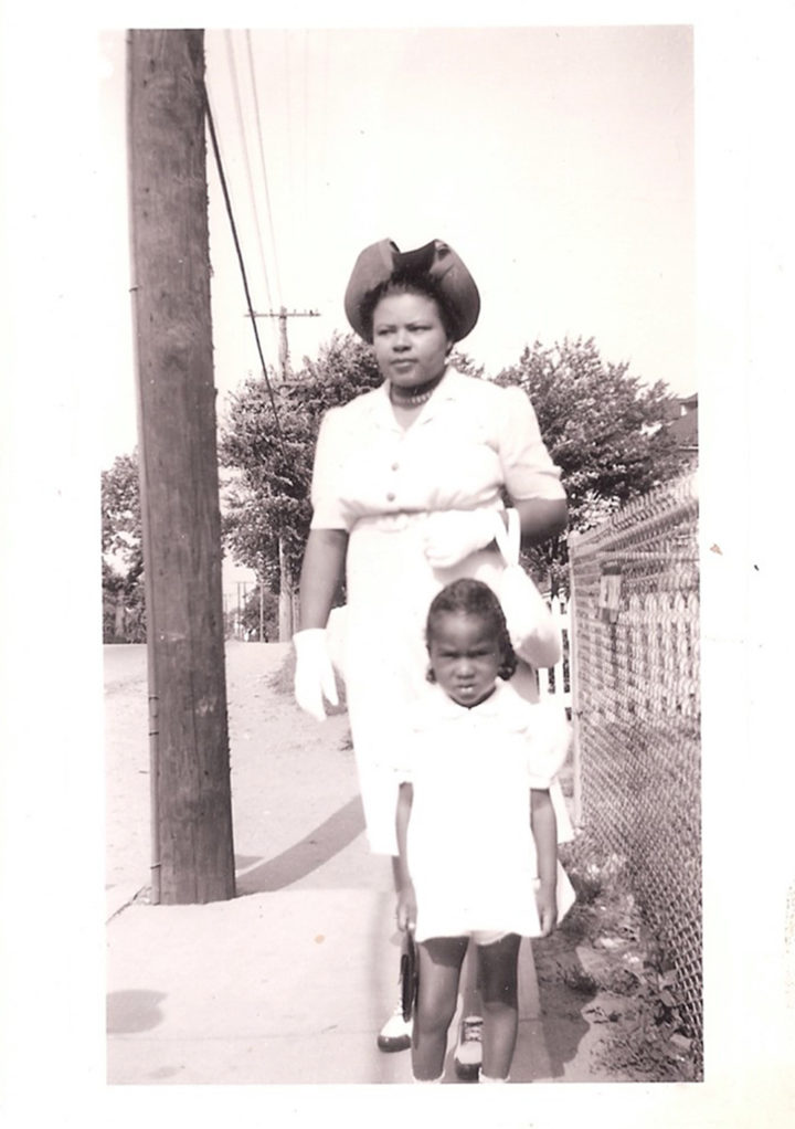 The author's grandmother and mother in Arlington, Virginia, c. 1942