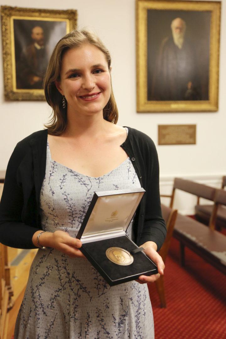 Dr Sarah Hill, Medal winner 2019