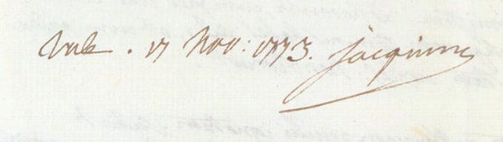Nikolaus Joseph von Jacquin's signature