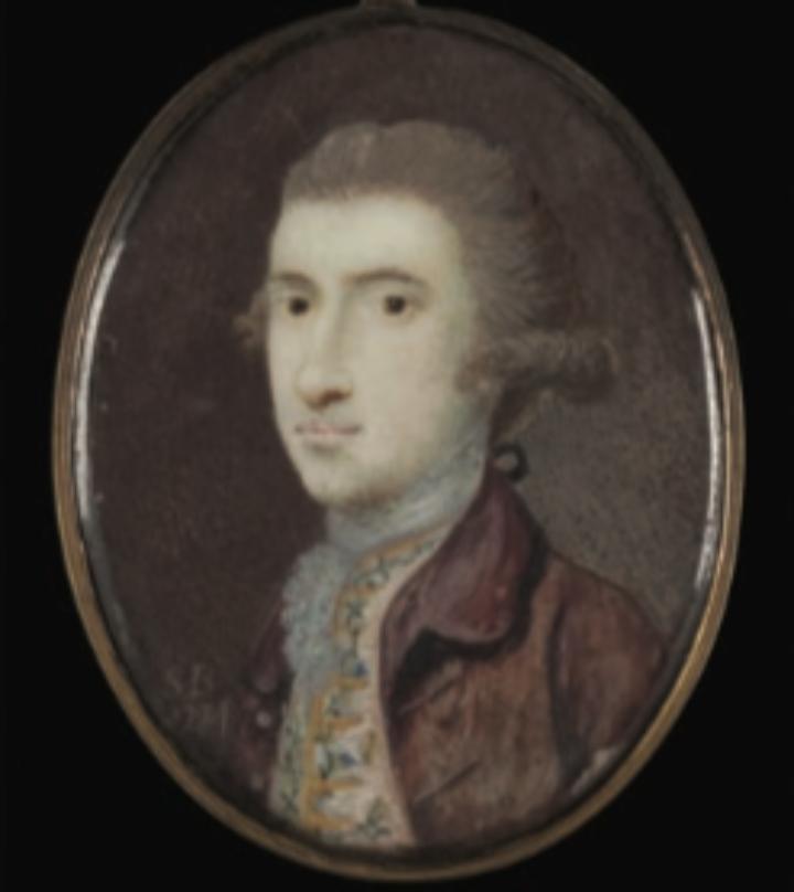 Watercolour portrait of John Bradby Blake (1745-1773)