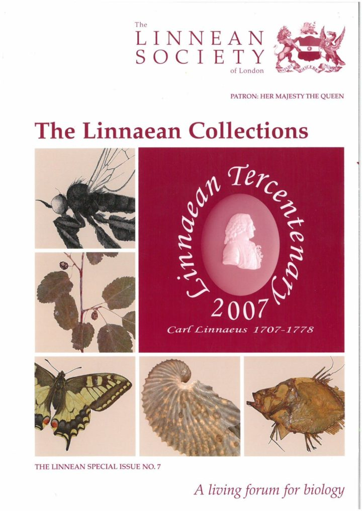 Linnean Special Issue Number 7 The Linnean Collection