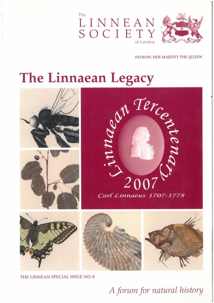 The Linnean Special Issue Number 8 The Linnaean Legacy