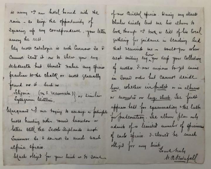 Letter written by W.B. Waterfall
