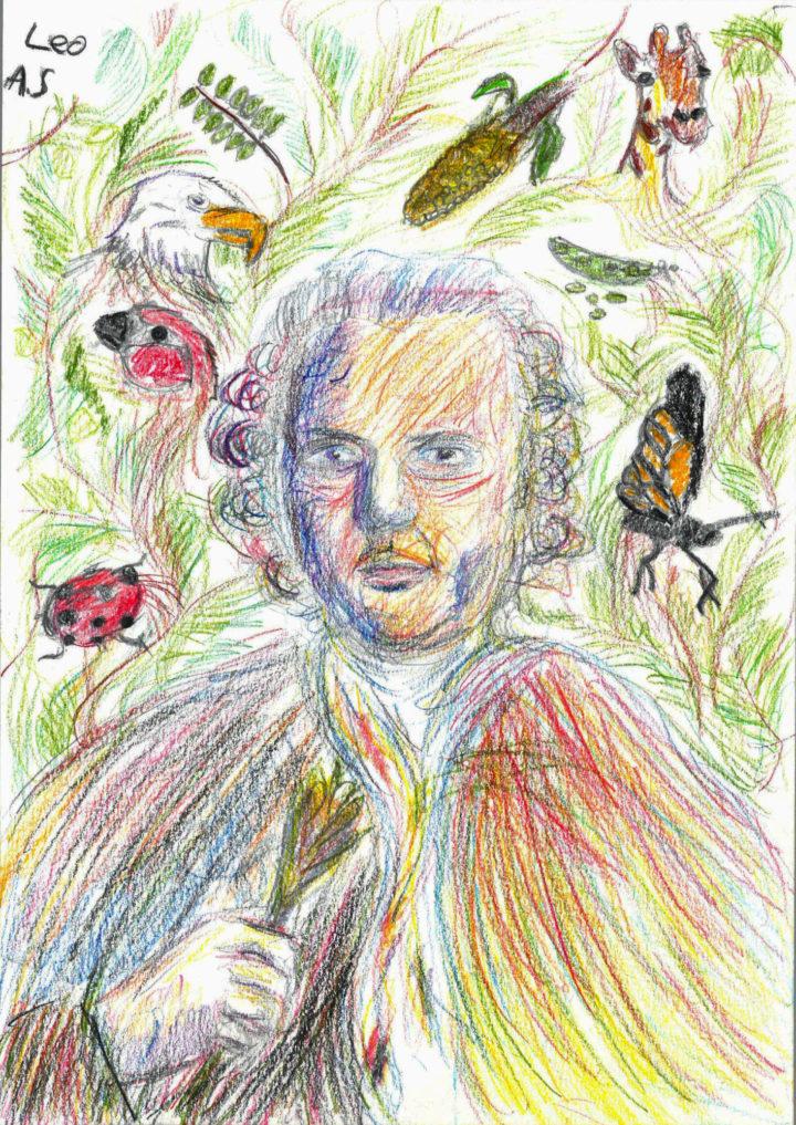 The winning portrait for the 2018 Linnaeus' New Portrait Competition