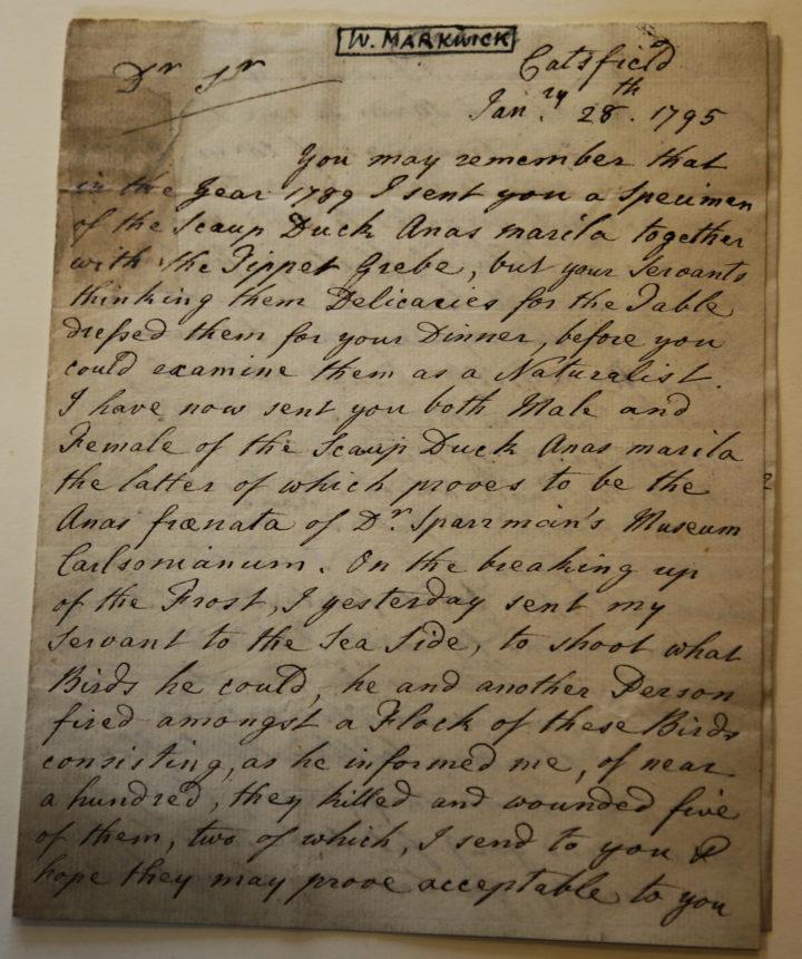 Markwick letter