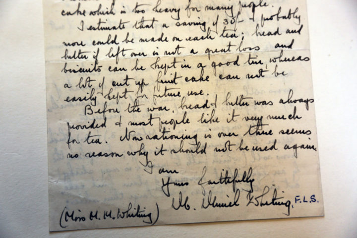 ration letter