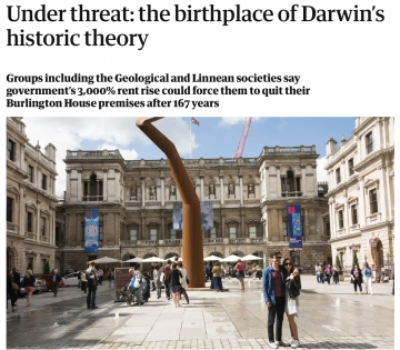 The Observer: 'Under threat: the birthplace of Darwin's historic theory'