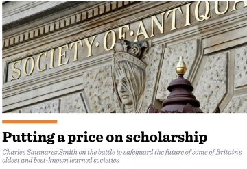 The Critic: 'Putting a price on scholarship'