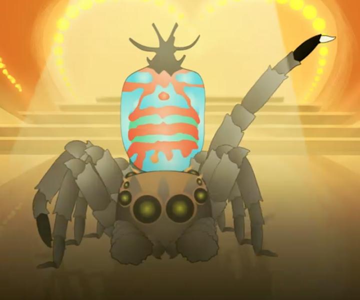Screenshot of animation