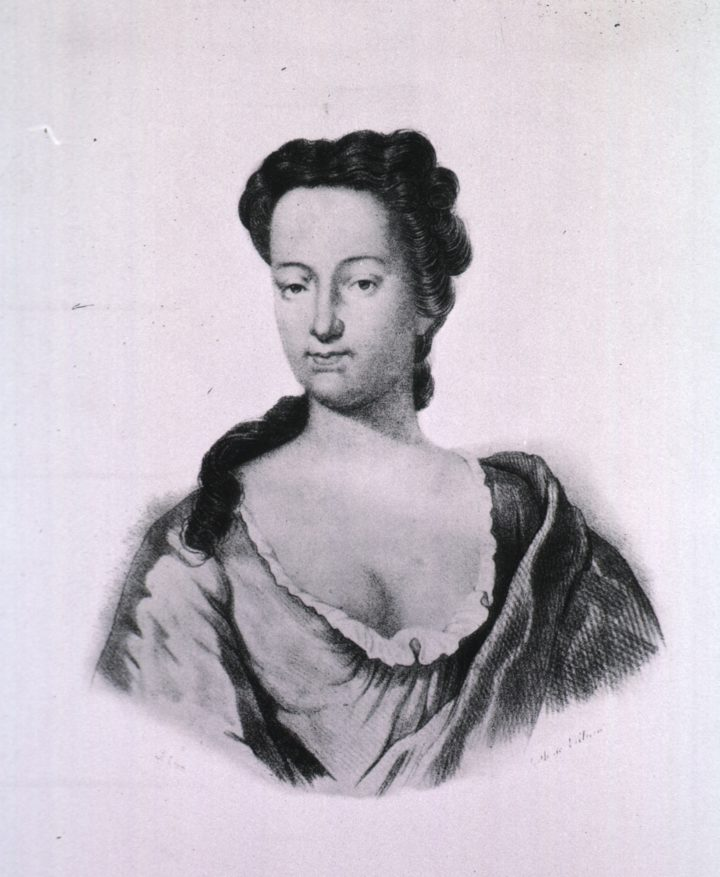 Lithograph portrait of Elizabeth Blackwell (c.1700-1758)