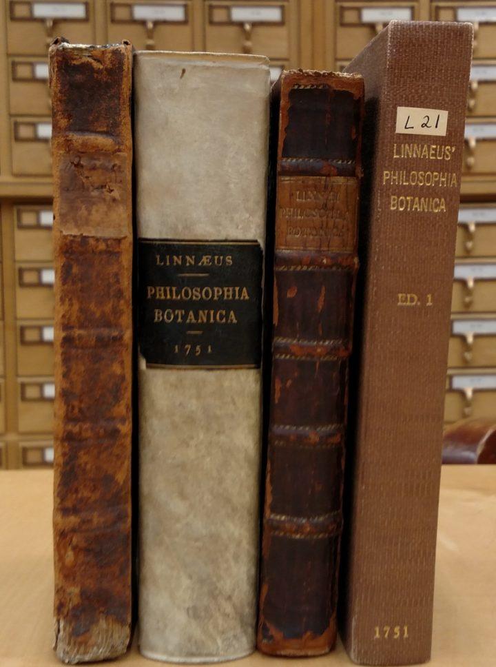 Harvard's four copies of Philosophia Botanica