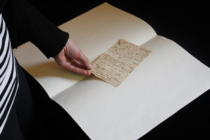 Carl Linnaeus the Younger's manuscripts (slip of paper)