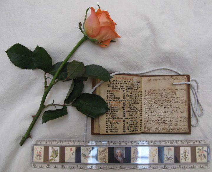small printed almanac as a diary